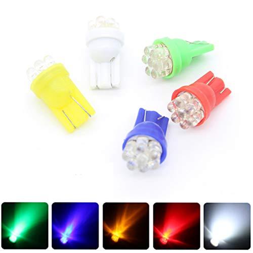 Richdoo 1 Ampoule T10 W5 W 7 LED Cale Indicateur de Brouillard DRL Lumière de Porte DC 12 V - Vert - 1x