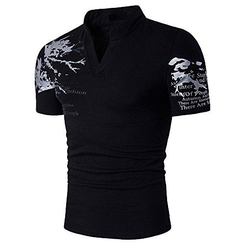 a4d5664dcad0 Dihope Herren Poloshirt Sommer T-Shirt Kurzarm T-Shirt Atmungsaktiv  Polohemd mit Aufdruck