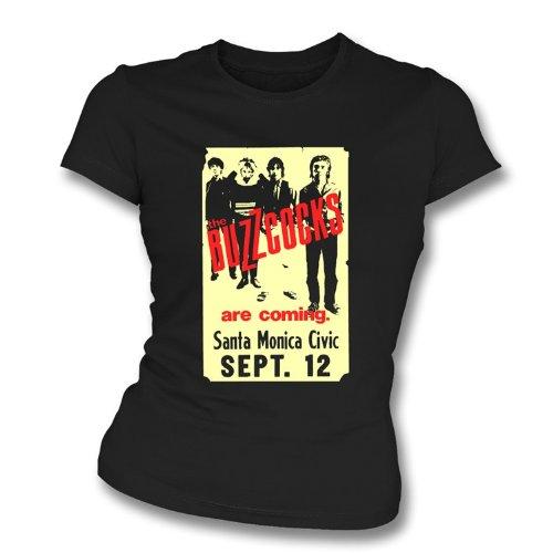 La camiseta del ajustado de la muchacha de cartel E.E.U.U. de los años 70 de Buzzcocks X-Grande, colorea...