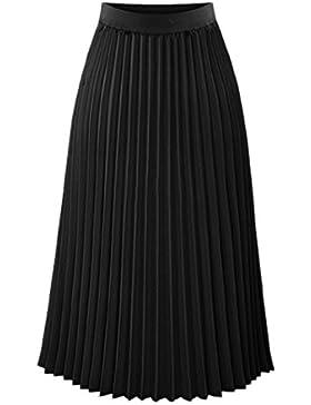 Sevozimda Mujer Casual Falda De Cintura Elastico Longitud De La Rodilla Faldas Plisadas Circle