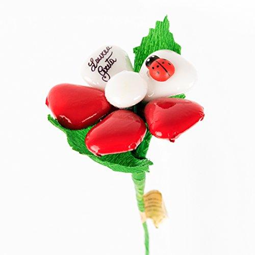 Margherita bicolore laurea - fiore di confetto - confetti pelino di sulmona