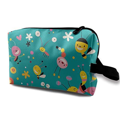 Snails Pattern Logo Travel Hanging Toiletry Bag Portable Travel Kit Shaving Bathroom Storage Bag Waterproof Cosmetic Organize ()