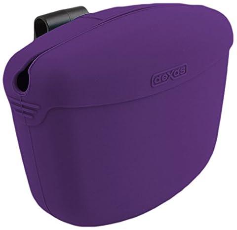 Dexas Popware Pets Pooch Pouch Storage Memory Silicone Sturdy Treats Purple