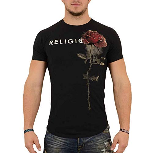 Religion Clothing Herren T-Shirt Shirt Rose Schwarz