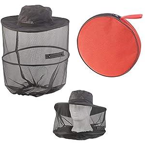 Semptec Urban Survival Technology Mückenhut: Kompakt Faltbarer Hut mit integriertem Moskitonetz, 300 Mesh, schwarz…