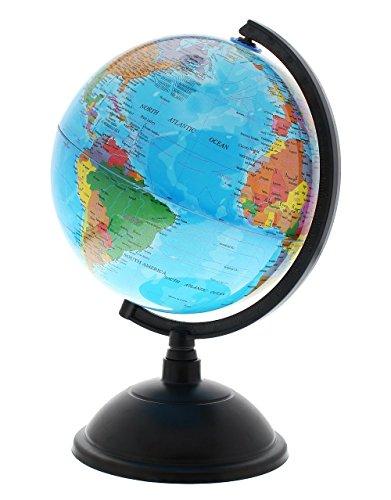PROW 8 Pulgadas Iluminado Globo Mundial, 2 en 1 Globo interactivo , niños para la Iluminación de la Habitación de los , O Viajero más Compás (Versión inglesa)