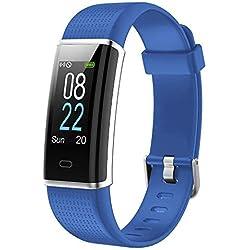 YAMAY Fitness Armband,Wasserdicht IP68 Fitness Tracker mit Pulsmesser 0,96 Zoll Farbbildschirm Aktivitätstracker Fitness Uhr Smartwatch Pulsuhren fitnessarmband Schrittzähler Uhr für Damen Herren