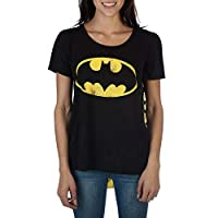 Batman Women's Interchangeable Cape Costume Tee Shirt Large