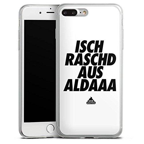 Apple iPhone 8 Slim Case Silikon Hülle Schutzhülle mir geschiss Spruch Statement Silikon Slim Case transparent