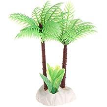 Daxibb Plantas acuáticas Dabixx Falso árbol de Coco Piedra Blanca Acuario Tanque bajo el Agua decoración