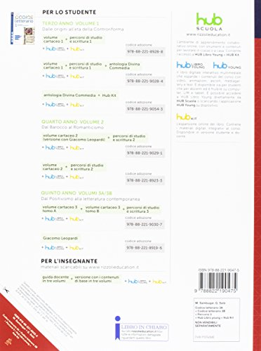 Codice letterario. Per le Scuole superiori. Con e-book. Con 2 espansioni online. Con libro: Percorsi: 3A-3B