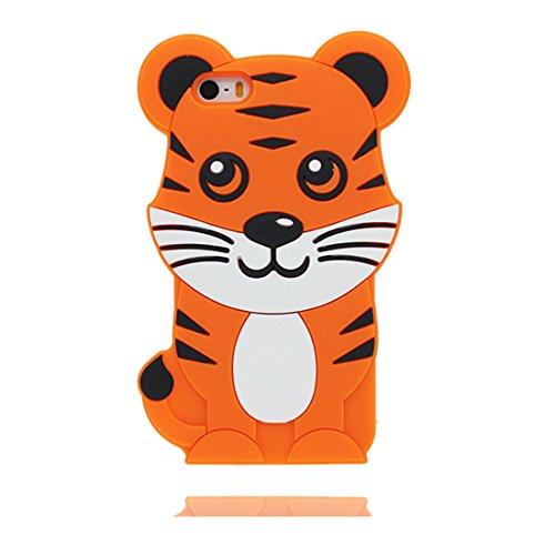 Custodia iPhone 5, iPhone 5s SE 5C 5G copertura case in Gel TPU Durevole flessibile morbido Cover Case - Rosa maiale Color 6