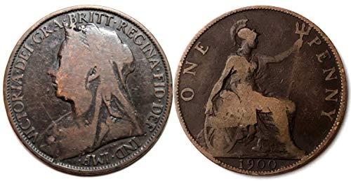 1900 One Penny Britische Münze in gutem Zustand, Sie Werden Nicht enttäuscht Sein! Münzen für Sammler und die große britische Münze Hunt. (1900 Penny)