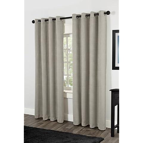Esclusivo Home Villamora in tessuto effetto lino Top termico Grommet pannelli Peltro