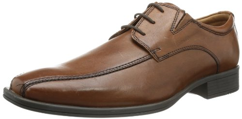 Clarks Flenk Lace, Scarpe Stringate Basse Oxford Uomo marrone (Braun (Brown Leather))