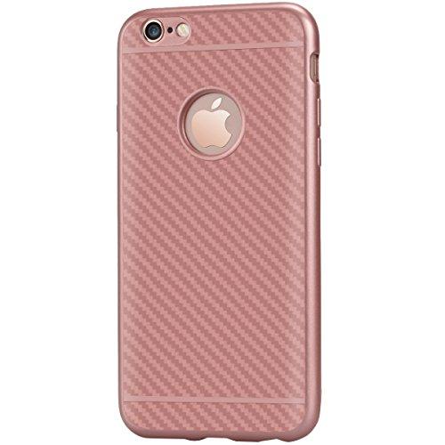 f3d19591e0f Custodia per Apple iPhone 7 Plus/iPhone 8 Plus ,GrandEver Fibra di Carbonio  Ibrida ...