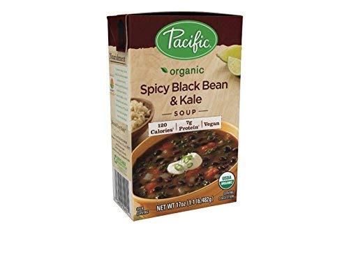 Alimentos Pacífico - Sopa picante orgánica de la haba negra y de la col rizada - 17 oz.