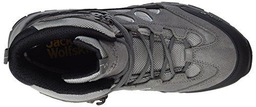 Jack Wolfskin Impulse Texapore O2+ Mid W, Chaussures de Randonnée Hautes Femme, Gris Gris (Tarmac Grey)