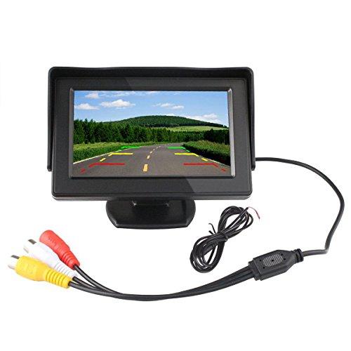 ETiME 4.3 Zoll Monitor Digital TFT LCD Anzeige 2 Video-Eingang Auto KFZ Bildschirm für Rückfahrkamera Auto DVD VCR DVD VCD STB Satelliten Receiver und andere Videogeräte Digital Lcd Vcr