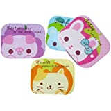 Inovera Cute Cartoon Animal Travel Mirror Box Contact Lens Container Set, Assorted Colour