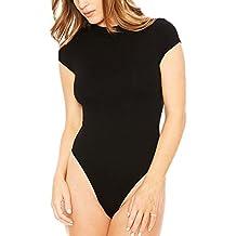 LaoZan Femme Stretch Body Débardeur Manche Courte Jumpsuit Bodysuit  Clubwear String Thong Maillot De Corps 0217a239a62