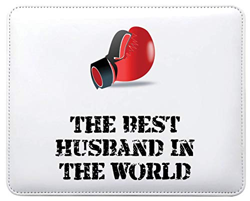Mo17 Mauspad, Motiv: The Best Husband In The World Boxhandschuhe, personalisierbar