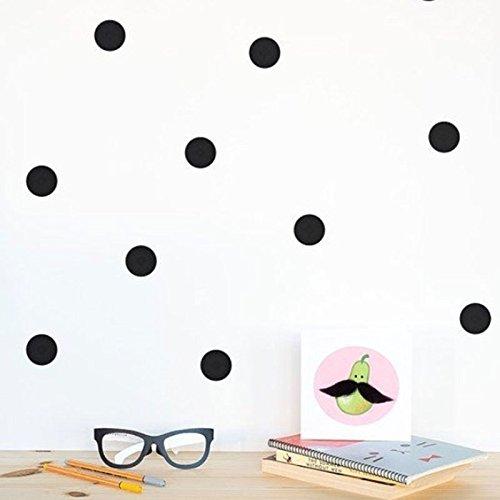 Kicode 3D Wand Aufkleber Kinder Kinder DIY skandinavischer Stil Polka Dots Sub House DIY Art Abnehmbarer Living Bed Room Home Dekoration 3cm*54pcs schwarz
