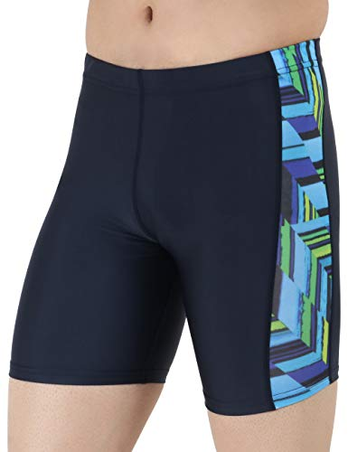 Never lose Swimwear Swimming Jammers for Men (Blue Print, M)