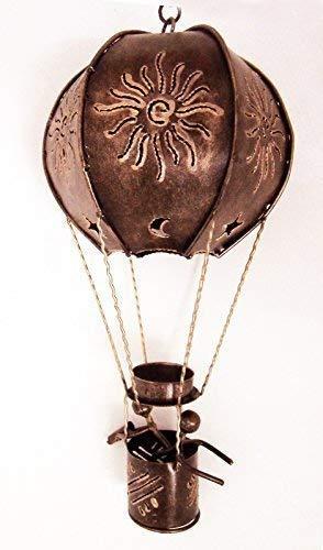 Ballon à Air Chaud en Forme de Bougie Chauffe Plat Support, L - 43 cm Haut, Finition Doré