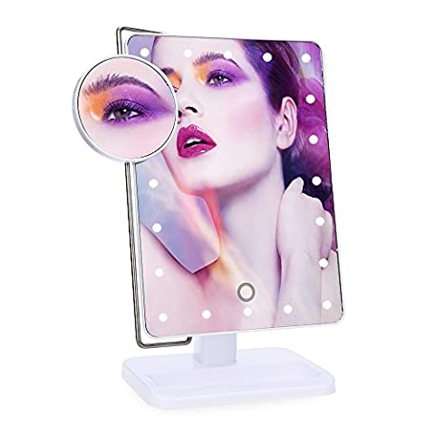 LED Makeup Mirror with 20 LEDs Touch Screen Dimming Illuminated