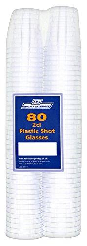 unststoff Schnapsgläser 2cl, transparent, 80Stück (Einweg-gläser)
