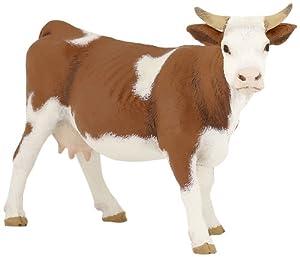 Papo- Figura Vaca simmental 13X4X8CM, (2051133)