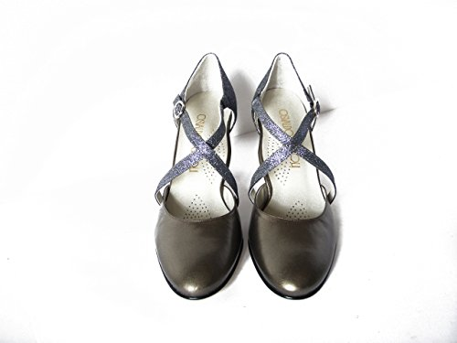 Osvaldo Pericoli Chaussures De Danse / Cuir Ceremony Rifle Barrel, Talon 7cm, 820cdf Gunmetal