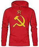 Urban Backwoods CCCP Vintage Logo Hoodie Kapuzenpullover Sweatshirt - Soviet Union Hammer & Sichel Russia Rußland UDSSR Größen S – 2XL