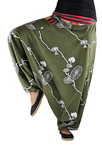 3d04810c75129 virblatt Pantaloni alla Turca Donna Pantaloni Etnici Larghi Donna Harem  Pants Yoga - Fusion