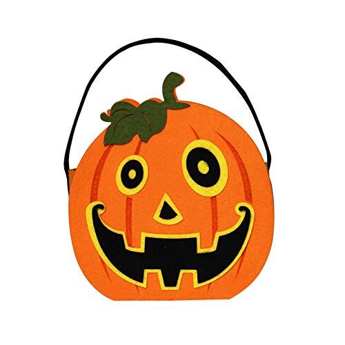 1 Stück Kinder Kürbis/Hexe Optionale Halloween Vlies Candy Eimer Tasche Kindergarten Kinder Tragbare Zuckerbeutel 21X16CM D