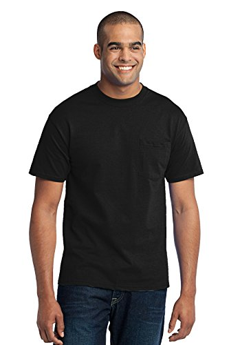 Port & Company 50/50 Cotton/Poly T Shirt with Pocket PC55P - Poly Pocket T-shirt