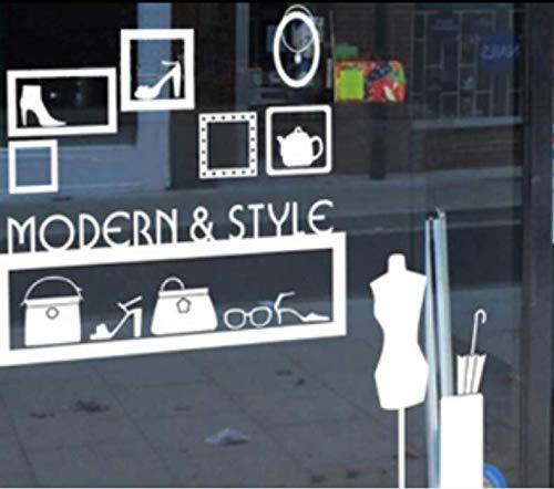 Zhyp Wall Sticker Modernen Stil Kleidungsstück BoutiqueSchaufensterDekoration Shop NameWerbung Zeichen Aufkleber Wandaufkleber 128 * 132 Cm - Stil Kleidungsstück