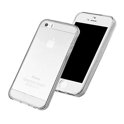 Hülle für iPhone SE / iPhone 5 5S, xhorizon MW8 Schlank Schlagfest 360 Grad Vorne und Rückseite Shockproof Schutzhülle TPU Transparent Case Cover für Samsung iPhone SE 5 5S Transparent