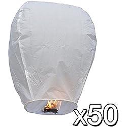 Paquete de 50 farolillos volantes de papel
