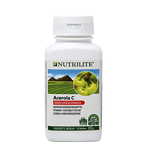 Täglich Kautabletten (Acerola Vitamin C Kautabletten NUTRILITETM - 110 Kautabletten / 103 g - Amway - (Art.-Nr.: 4237))