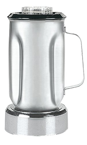 Waring Commercial SS715 Stainless Steel Container Complete with Blade Assembly and Lid, 32-Ounce
