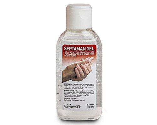 SEPTAMAN 100 ml gel igienizzante per mani senza risciacquo pronto per l'uso tipo amuchina cod. PH005