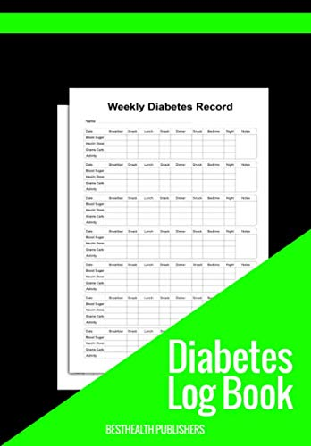 Diabetes Logbook Track Your Blood Sugar And Insulin Daily Weekly And Monthly: Perfect For Tracking Daily, Weekly And Monthly Glucose Levels Breakfast, Launch, Snack And Dinner