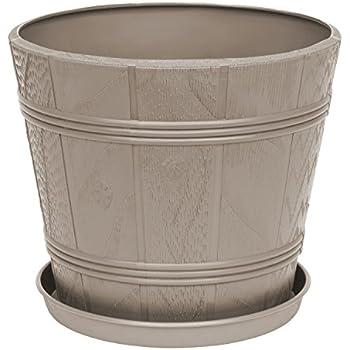 aus Kunststoff Taupe 40 rund Geli Cylindro Thermo-Blumentopf 12 cm