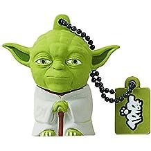 Tribe Star Wars Pendrive - Memoria USB Flash Drive 2.0 (de goma, de 8 GB con llavero), diseño Yoda