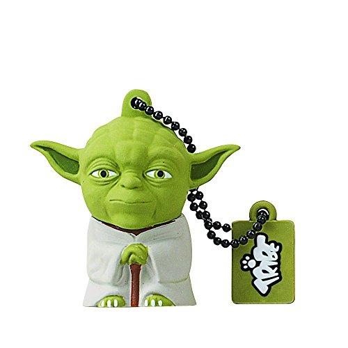 Tribe FD007504 Star Wars Pendrive Figur 16 GB Speicherstick Lustig USB Flash Drive 2.0, Schlüsselanhänger Kappenhalter, Yoda, Grün