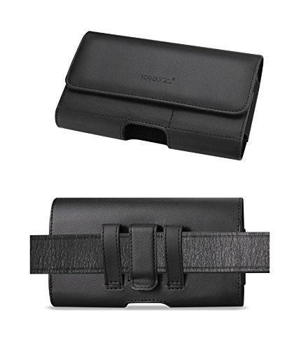 Krofel Leder Tasche Clip für iPhone X/8/7/6S, Google Pixel Zone 2, LG 4, Tribute Dynasty, Asus Zenfone V Live, Samsung Galaxy S9/S8-(passend W Slim Case)