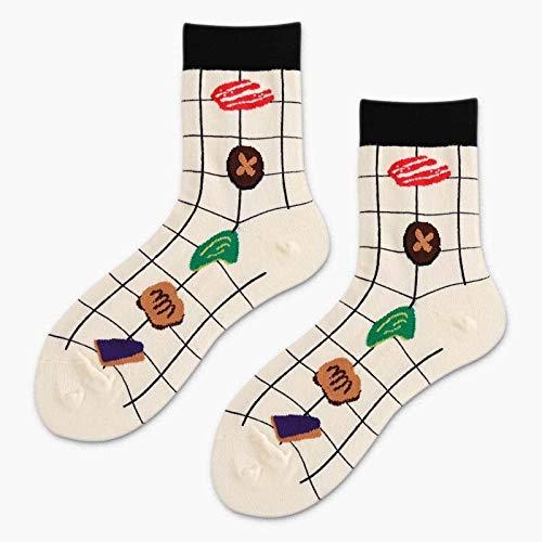 WUWAZI 4 Paare Harajuku Sushi/Fleisch/Reisbällchen Kawaii Lustige Socken Kreative Weibliche Nette Karikatur Socken Frauen