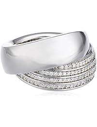 Joop Damen-Ring 925 Sterling Silber Zoe Zirkonia-Pavée weiß JPRG90596A5